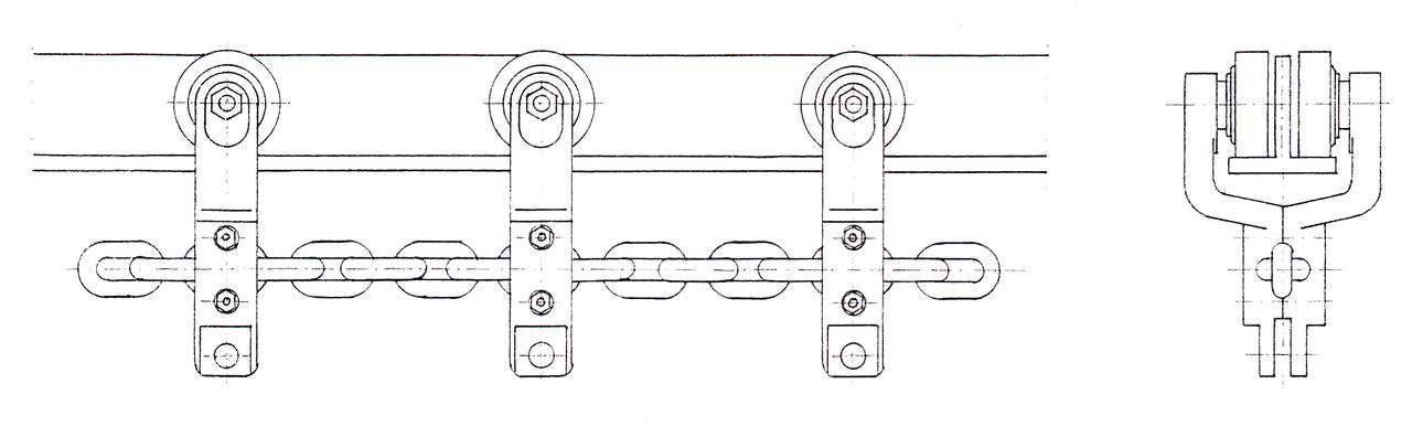 Цепной подвесной конвейер устройство чертеж привода скребкового конвейера